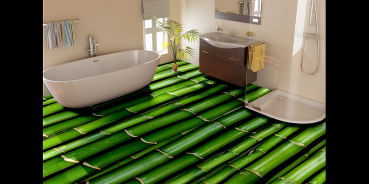 Bamboo Texture Vinyl Flooring, Bamboo Mural Flooring