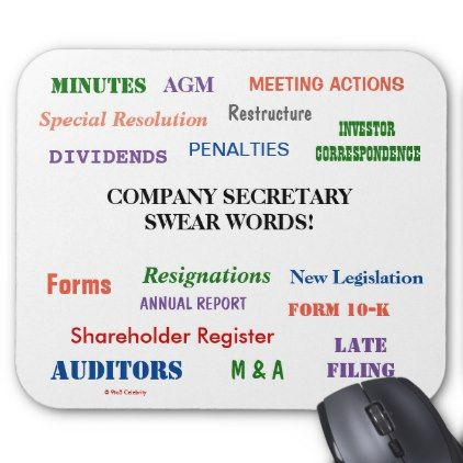 Annoying But Funny Company Secretary Swear Words Mouse Pad - funny quotes fun personalize unique quote
