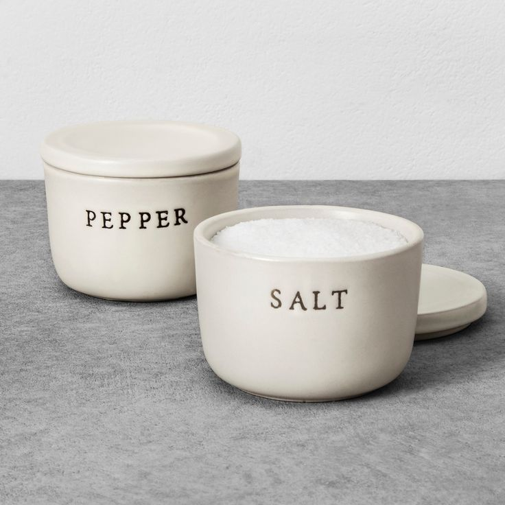 For a simple decorative piece with practical purpose, add the Stoneware Salt Cellar from Hearth & Hand™ with Magnolia to your kitchenware. Made from durable stone in a soft, creamy color, this stone salt cellar lets you store a larger amount of salt in one place so you can easily refill your salt shaker or simply sprinkle as needed while cooking. Pair with the Stoneware Pepper Cellar to complete the set.<br><br>Celebrate the everyday with Hearth & Hand —...