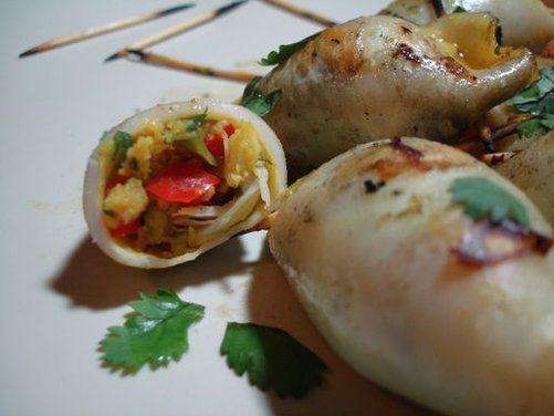 Stuffed Squid recipe | Epicurious.com