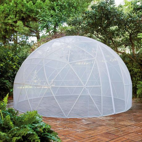 By using the polyester Mosquito Cover alone or in combination with the Canopy Cover, your structure is transformed into an airy space that's free of annoying insects for the warmer months.