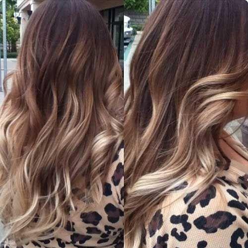 Sarı Balyajlı Ombre Saç