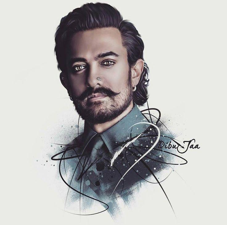 """247 Likes, 2 Comments - Aamir Khan Fan Turkey  (@aamir_khan_1403) on Instagram: """"Bir Aamir gördüm sanki  Mükemmel olmuş  @dibujaa ~ ~ ~ ~ ~ ~ ~ #aamirkhan #dünyaamirlegüzel…"""""""