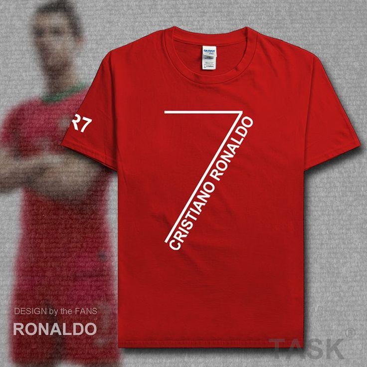 New Fashion Men T shirts Ronaldo T-Shirt CR7 Christiano Tees 100% Cotton Clothing Plus Size Portugal footballer Madrid star No 7