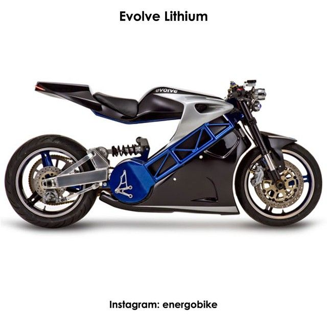 Evolve Lithium Этот мотоцикл оснащен электродвигателем, имеющим мощность 54 л.с. (40 кВт), что является, согласно мнения инженеров, вполне достаточно, чтобы раогнаться до весьма внушительных для электромотоциклов скорости 160 км/ч. Запас хода без подзарядки - 160 км. Время зарядки - 3,5 часа Стоимость 20 000$  http://evolvemotorcycles.com #instabike #biker #motorbike #bikelife #bike #moto #motogp #motorbike #sportbike #motolife #superbike #bikestagram #electricmotorcycle #electricbike…