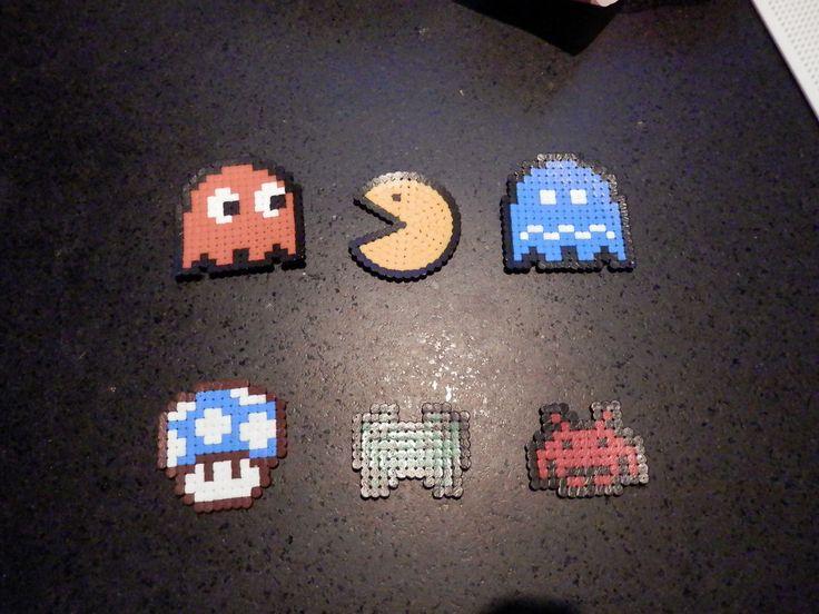 personnages de jeux vidéo en perles à repasser