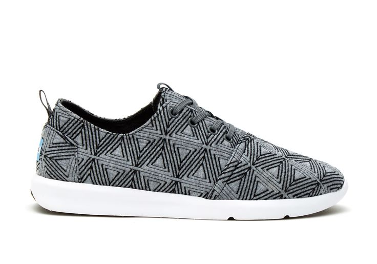 Grey Angular Embroidery Grey Angular Embroidery Men's Del Rey Sneakers