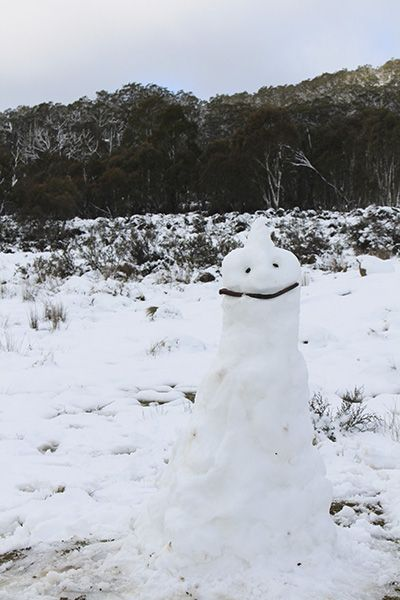 Snow man at Corin Forest, Canberra