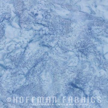 Hoffman Fabrics Watercolors January Blue Grey 1895-586-January Bali Batik Fabric