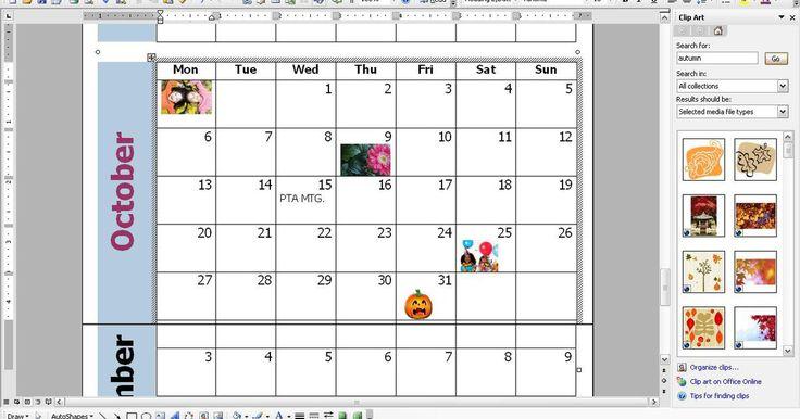 Cómo personalizar un calendario mensual con Word. Tener un calendario de escritorio no es de lo más eficaz a la hora de recordarnos reuniones y fechas especiales. Un calendario mensual más gráfico nos permitirá recordar toda la sucesión de eventos venideros y a la vez hará que tengamos presentes, delante de nuestros ojos, todas las reuniones de la asociación de padres y maestros y todas las ...
