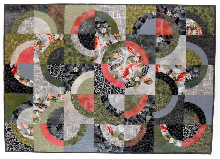53 best mine and my friend 39 s works of art images on for Koi pond quilt pattern