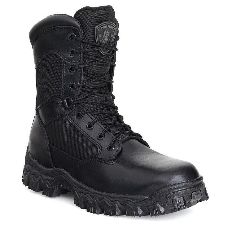 Rocky AlphaForce Men's Waterproof Duty Boots, Size: medium (10.5), Black