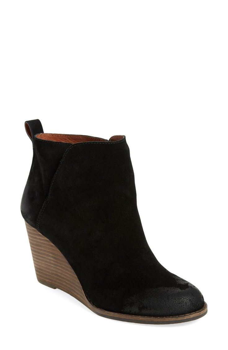 Lucky Brand 'Yezzah' Wedge Bootie (Women) $49 off #nsale