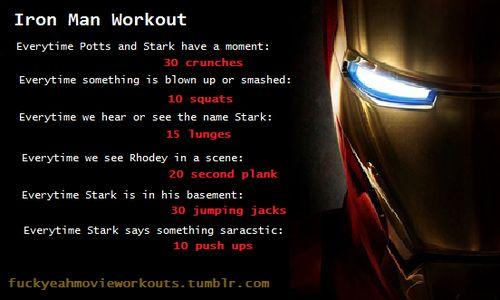 Iron Man movie workout!