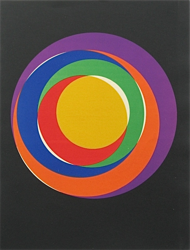 """(still pretty fab now but imagine how amazing it must have looked in 1938...) Max Bill original lithograph """"Variation 13"""" (1938)"""