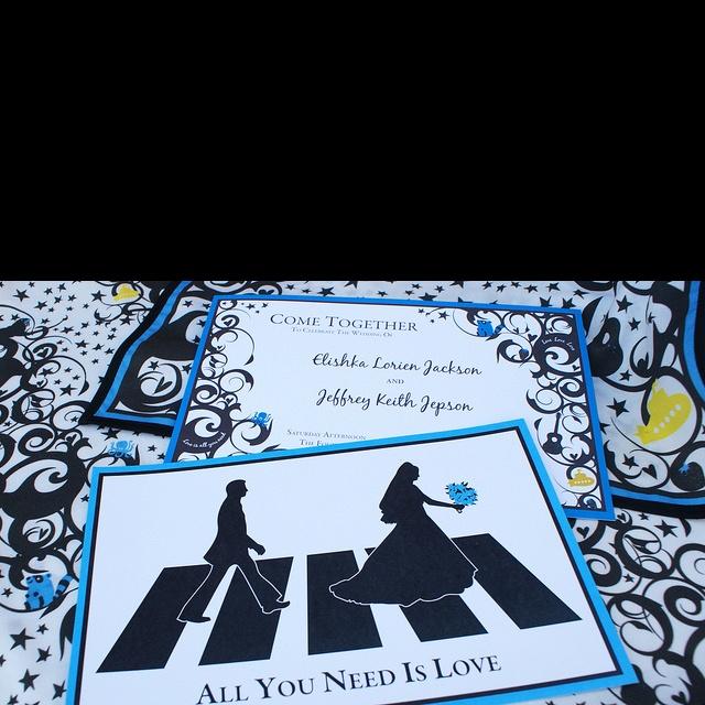 Beatles wedding theme Invitations