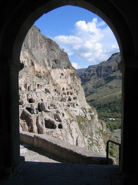 Монастырь Вардзиа, вид с колокольни