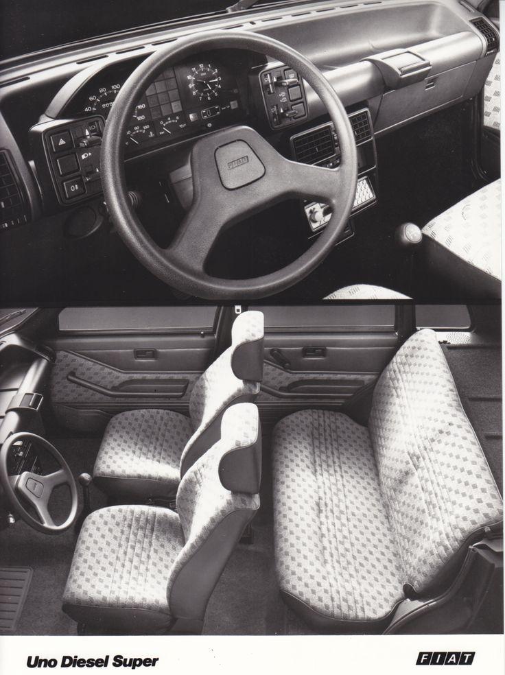 Fiat Uno Diesel Super dashboard & interior (Salon Brussels, 1/84)