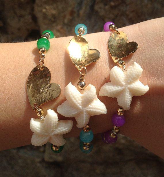Handmade Starfish Bracelet. PULSERA hecha a mano por SisStyles1725