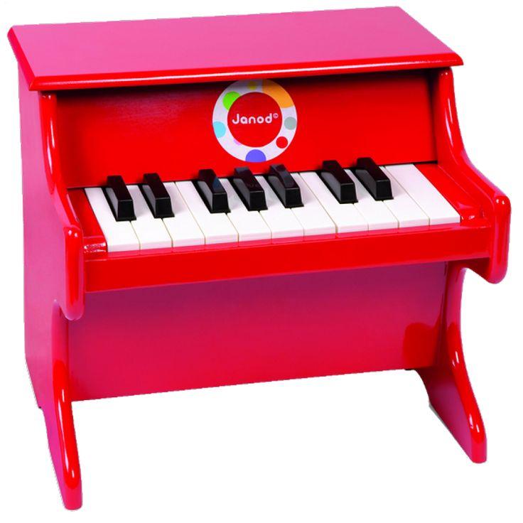Pianoforte Confetti - Rosso - Janod 07622 - lalberoazzurro.net