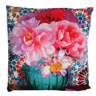 #floral #pillow #cushion Anna Chandler Velvet Floral Cushion