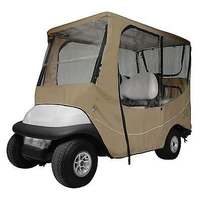 Push-Pull Golf Cart Add-ons 72671: Fairway Travel Golf Cart Long Roof Enclosure - Khaki 40-046-345801-00 -> BUY IT NOW ONLY: $108.91 on eBay!