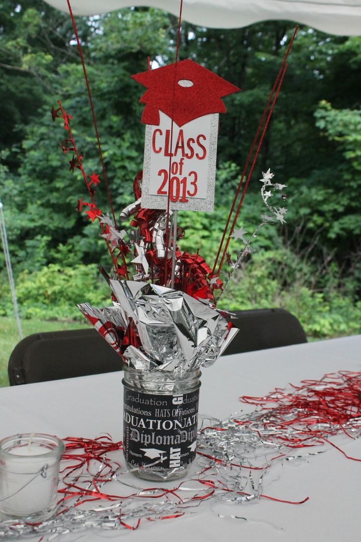 Graduation table decorations homemade - Graduation Party Centerpiece