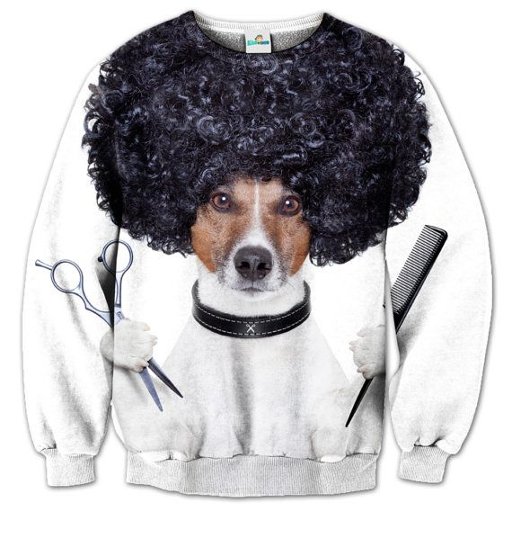 For all who are crazy... For all who like dogs... For all who have any association with hairdressing... Crazy Dog Hairdresser Sweater. Awesome kids wear!    SIZE CHART:  is available on last image attached above. Please find sizing guide in the INCHES and CENTIMETERS.  All sizes are converted for your convenience from EU Alpha sizes.    If you have any questions don't hesitate to contact me! I can help you to choose the right size for your kid!    Ewa, Kids Mob :) | Shop this product here…
