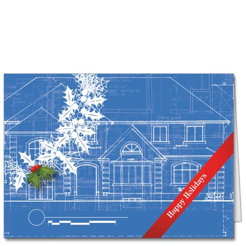 Another Iteration Of The Lively Blueprint Holiday Card Concept For  Architects And Construction Engineersu2014a