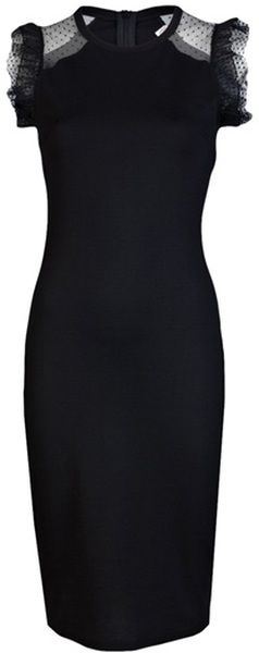 VALENTINO Fitted Dress: Valentino Black, Black Lace, Fit Dresses, Red Valentino, Christmas Holidays, Valentino Dresses, Cap Sleeve, Little Black Dresses, Red Black