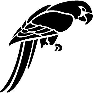 Parrot Stencil for Airbrush Tattoo Craft Art | eBay