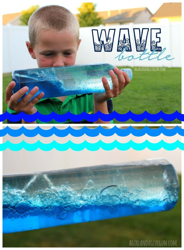 How to make a homemade wave bottle with kids!