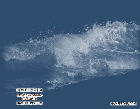 Вода, капли воды, воздушные пузыри, волны - клипарт в формате PNG на прозрачном фоне