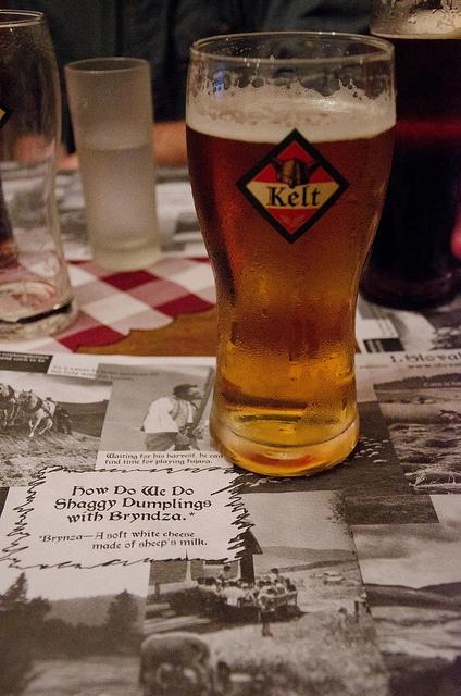 Kelt Beer at 1.Slovak Pub in Bratislava Slovakia