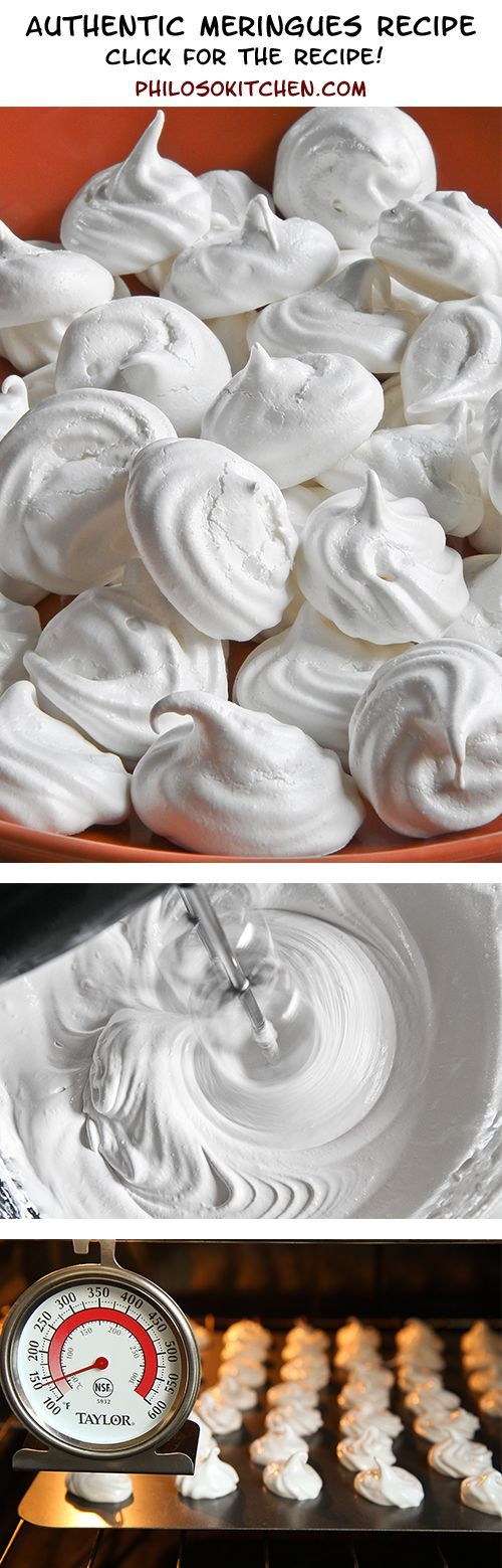 """Authentic meringues recipe, very easy and super tasty! Meringues are the foundation of many desserts (at my Italian family house in Bologna, we call them """"spumini""""). They are excellent when crumbled for stuffing ice cream cakes or whole, used as a decoration. They are also delicious eaten alone, perhaps covered with melted chocolate or flavored with coffee."""