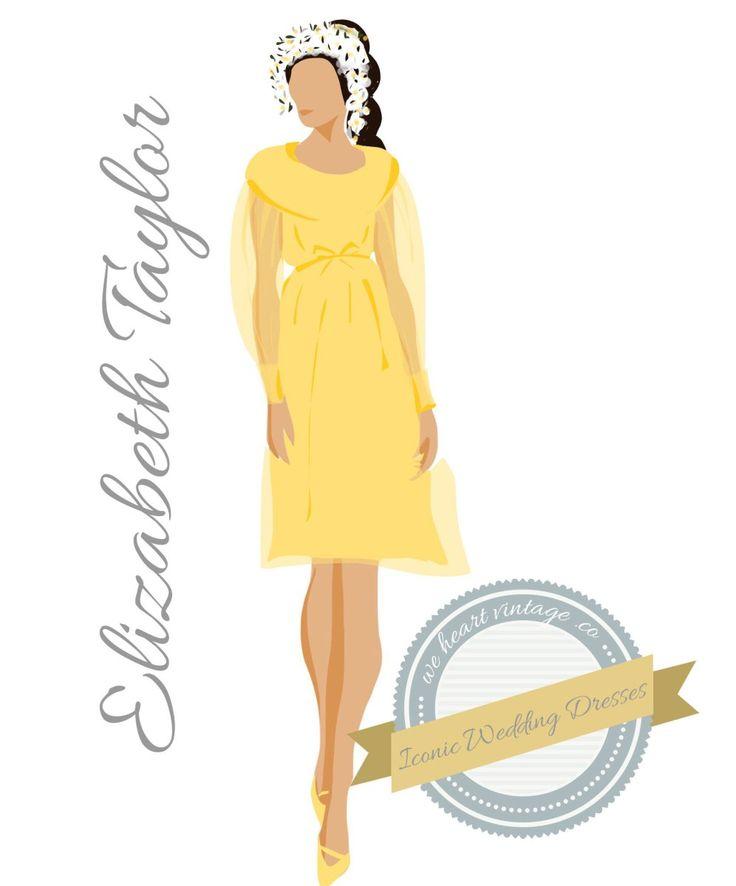 Iconic Wedding Dresses #5: Elizabeth Taylor (1964) | We Heart Vintage blog: retro fashion, cinema and photography