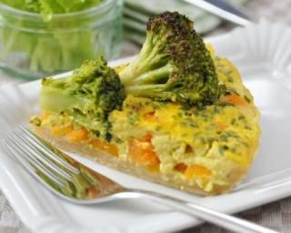Quiche carottes et brocoli à moins de 200 calories par personne                                                                                                                                                                                 Plus