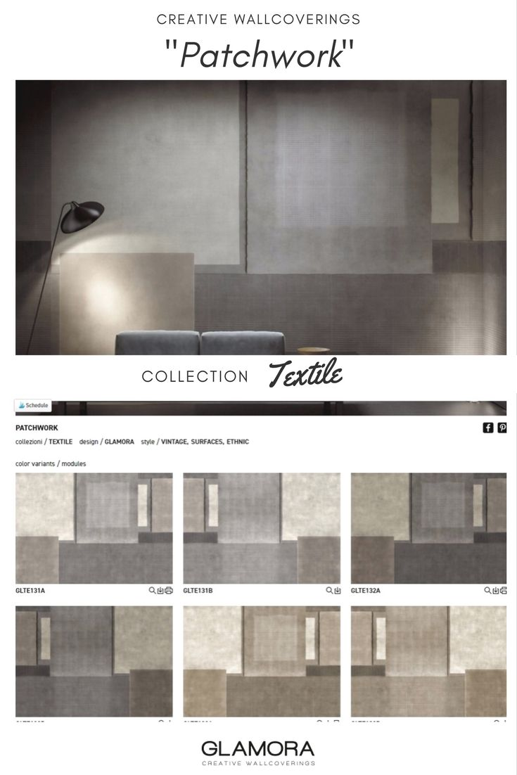 Patchwork // Vintage Wallcovering | Textile Collections by Glamora