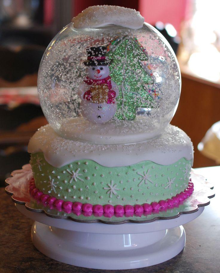 Snow Globe Cake  on Cake Central
