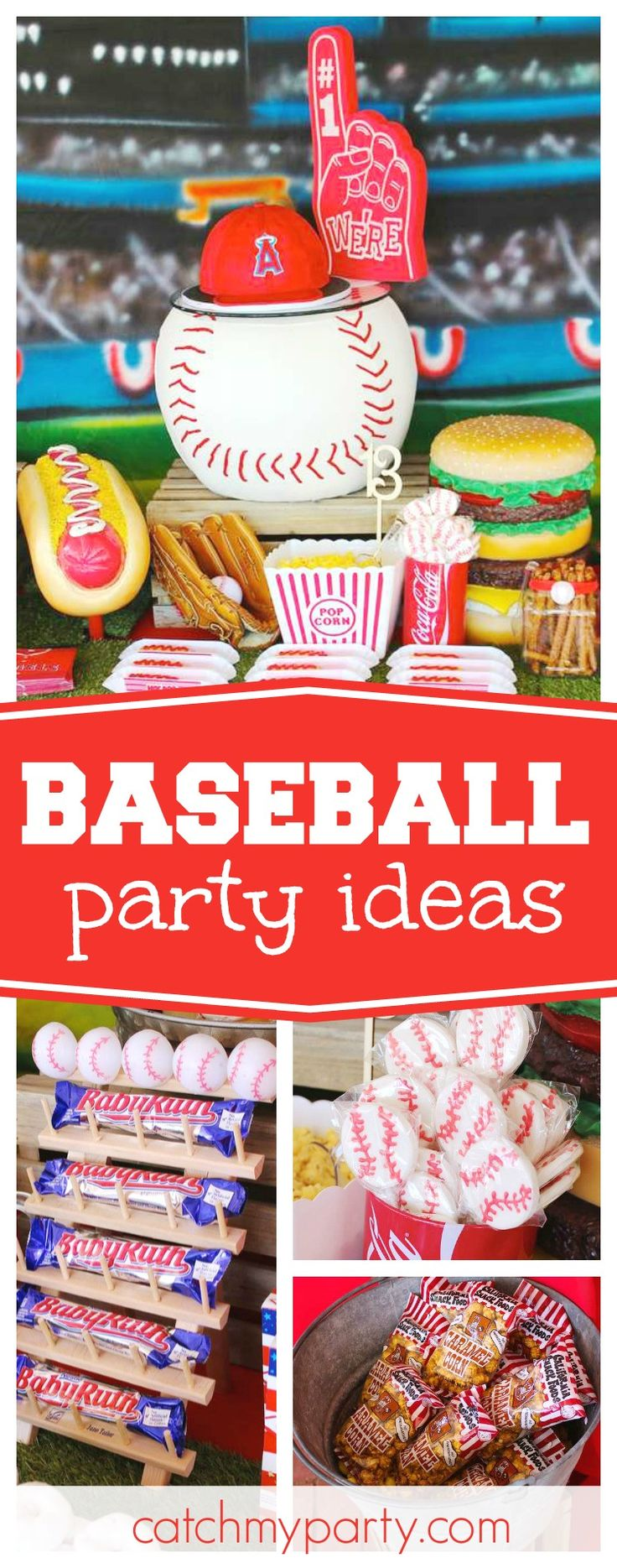 Check out this fun Baseball birthday party! The dessert table is awesome!! See more party ideas and share yours at CatchMyParty.com