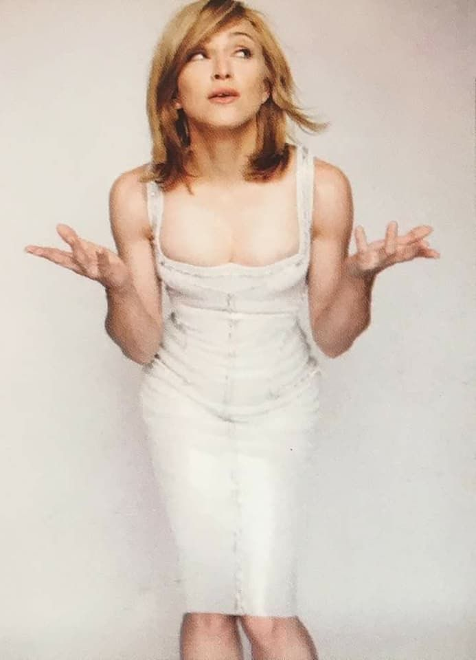 7e67a4f1b Pin by August Chen on Madonna in 2019 | Madonna, White dress, Material girls