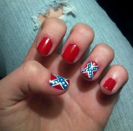 37 best nail art images on pinterest rebel flag nails rebel rebel flag nails more prinsesfo Gallery
