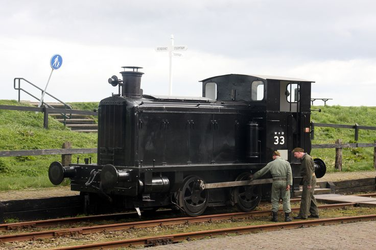 WD 33 = WD 70033 = NS 162 now restored to full working order in the Netherlands. It is now in War Department black livery and numbered WD 33, seen here at a small event at Medemblik, the Netherlands.