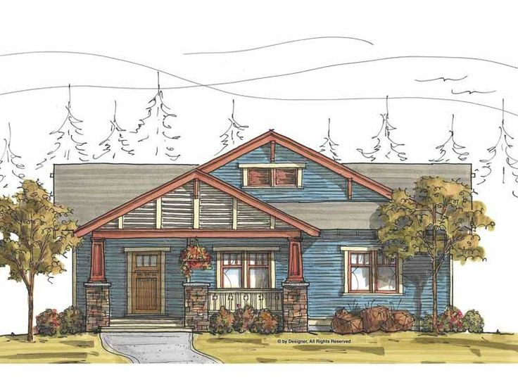 17 best images about house plans on pinterest house for Eplans craftsman bungalow 11192
