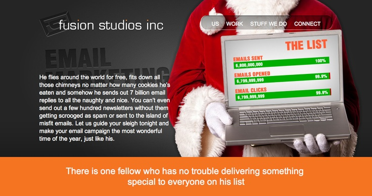 Email Marketing page Fusion Studios.