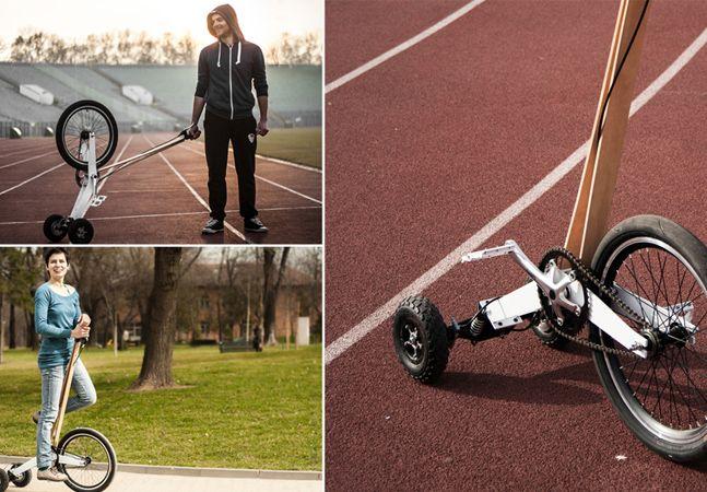 Bike inovadora de três rodas quer ser alternativa de transporte urbano