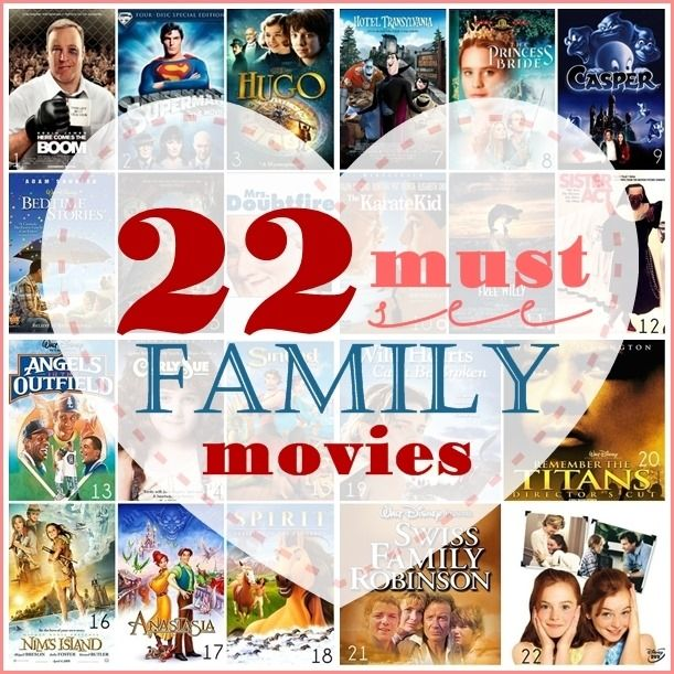 These are some of the best Family movies out there. Pin it and watch it later ;)