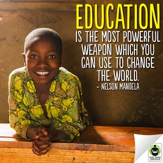 With #FairTrade, children can stay in school and work towards a bright future. #Education #NelsonMandela