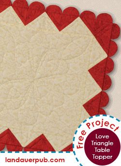 Love Triangle Table Topper