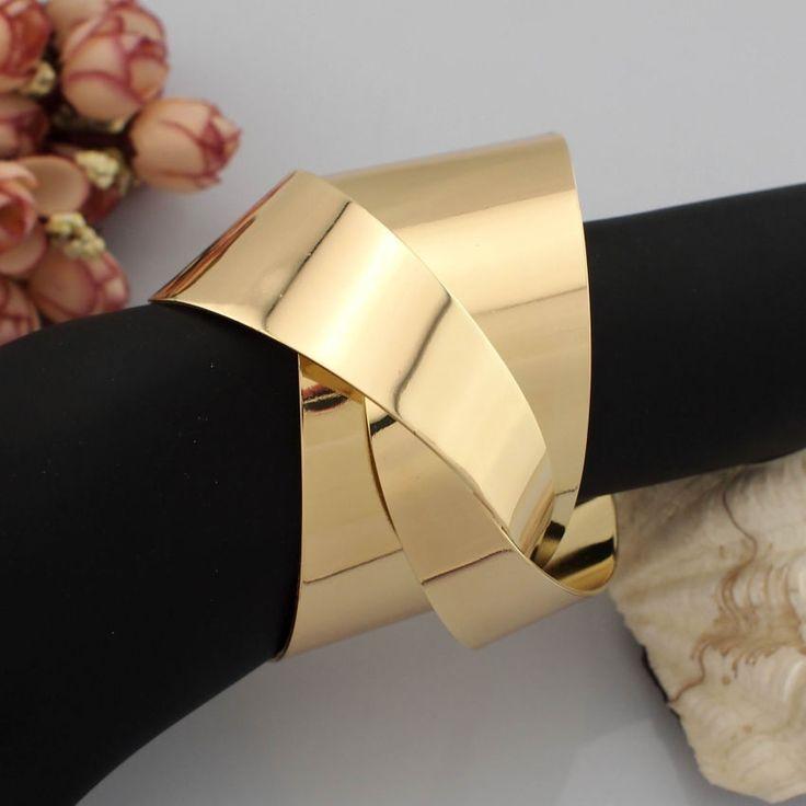 406 руб Уникальный дизайн женщины ювелирные изделия деформация поверхности металла открыт манжеты браслеты браслеты золотые и серебряные цвета бесплатная доставка BL113 купить на AliExpress